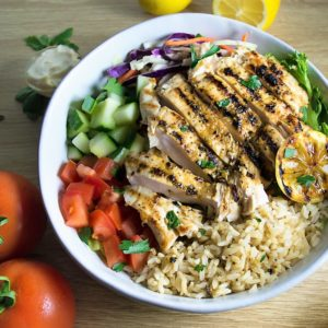 Oven Roasted Greek Chicken With Lemon Rice